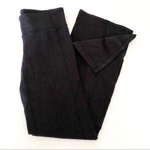 Athleta black flare yoga style pants
